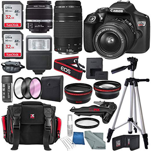 Canon Eos Rebel T6 Dslr Camera Deluxe Bundle