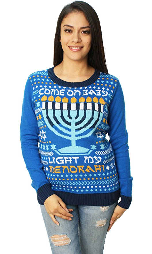 Come on baby light my menorah Hanukkah Sweater