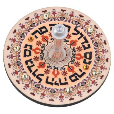 Dorit Judaica Wooden Dreidel A Great Miracle Happened Here