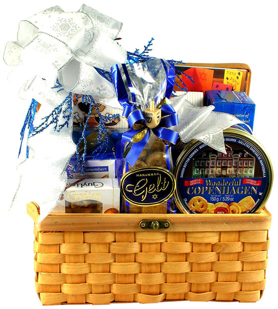 Hanukkah Treasures Kosher Gift Basket