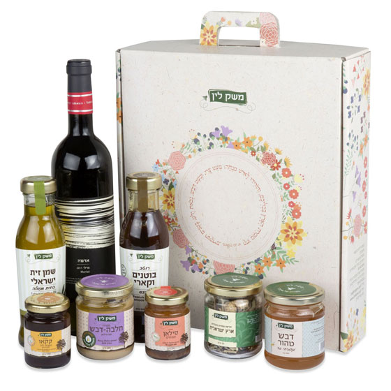 Lin's Farm All-Natural Gift Box with Wine
