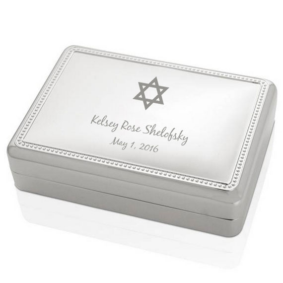 Silver Star of David Jewelry Box