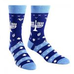 Sock It To Me Mens Fun Crew Socks Hanukkah Menorah Mazel Toes