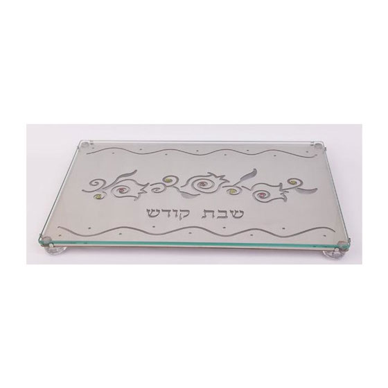 Stainless Steel and Glass Challah Board