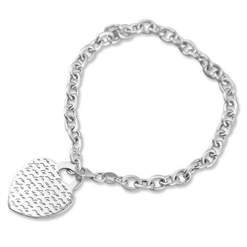Sterling Silver Rabot Banot Heart Bracelet