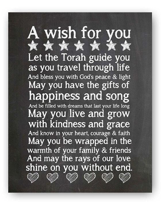 Torah Quote Chalkboard Plaque