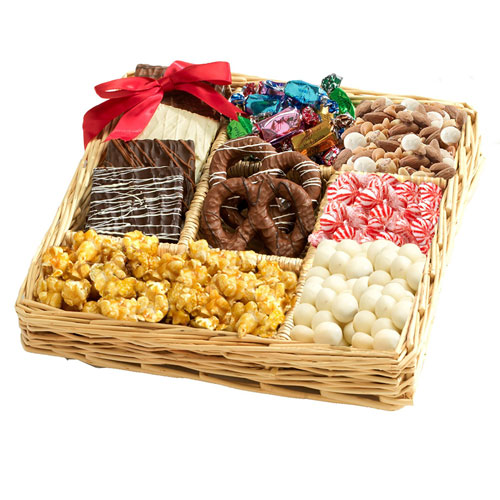 Broadway Basketeers Chocolate Nut Gift Tray