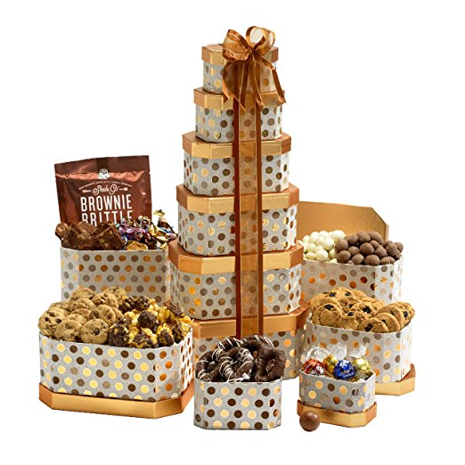 Broadway Basketeers Towering Heights Kosher Gourmet Gift Tower