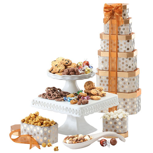 Broadway Basketeers Towering Heights Kosher Gourmet Gift Tower2