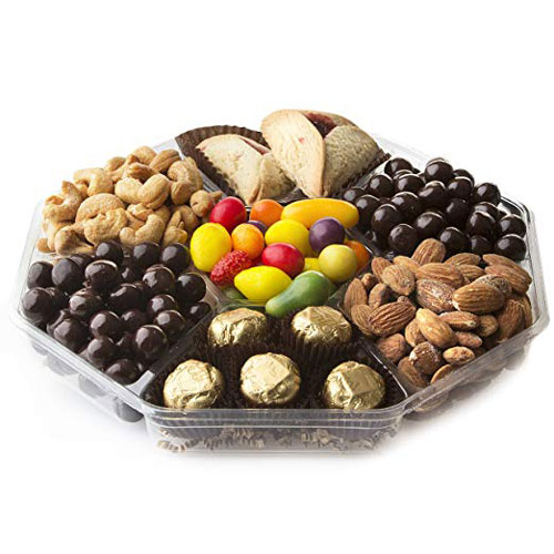Happy Purim Sectioned Mishloach Manot Gift Tray