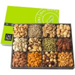 Oh Nuts! 12 Variety Nuts In A Modern Wood Gift Tray