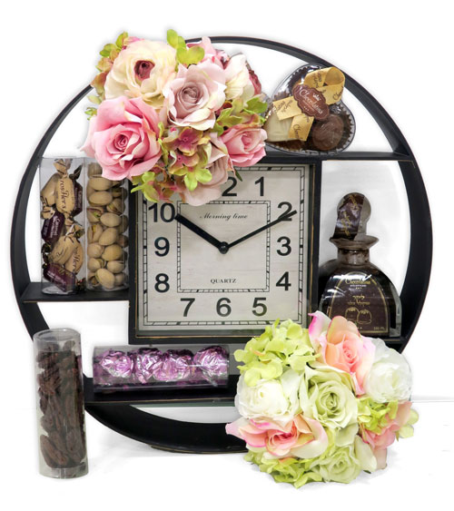 Purim Classical Round Sectional Wall Clock Gift Basket
