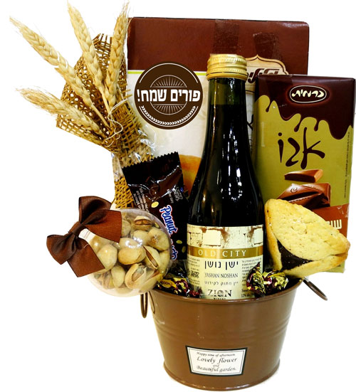 Purim Planter Gift Basket Israel Only