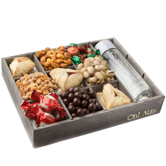 """Purim Shalach Manos """"The Everything"""" Wooden Gift Tray"""