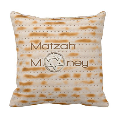 Matzah Money Pillow