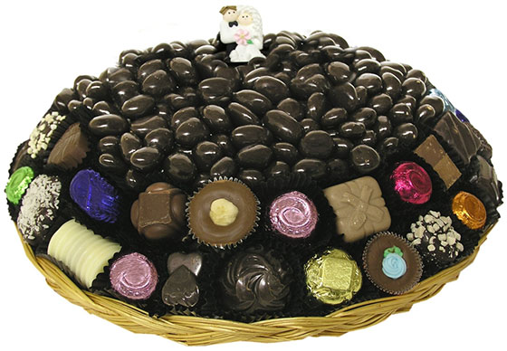 10-Inch Wedding Chocolate Gift Tray
