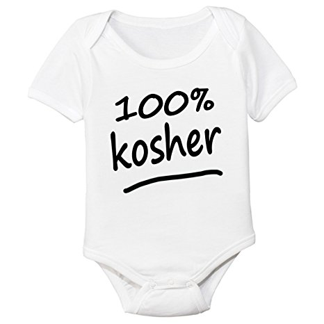 100% Kosher Organic Cotton Baby Bodysuit