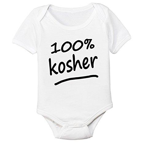 100% Kosher Organic Cotton Baby Bodysuit