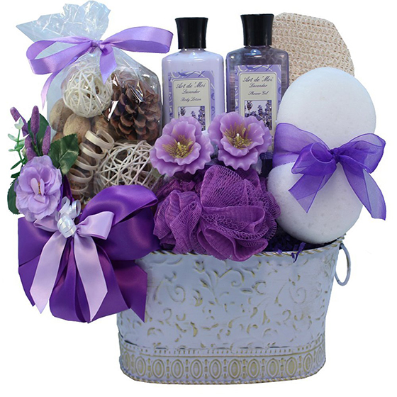 Art of Appreciation Lavender Renewal Spa & Body Gift Basket