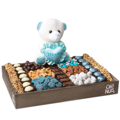 Baby Boy Gift Wooden Large Tray