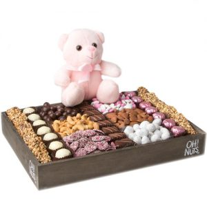 Baby Girl Gift Wooden Large Tray