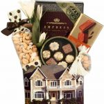 Brown Colonial House Gift Basket