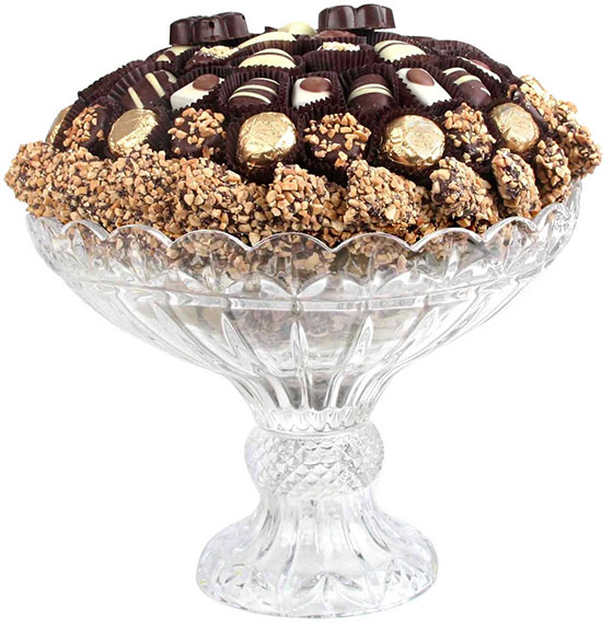 Crystal Pedestal with Top Quality Chocolate