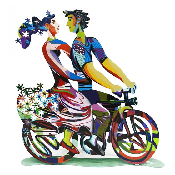 David Gerstein Signed Sculpture – Spring Ride
