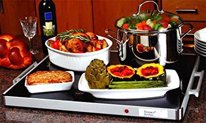 Deluxe Glass Buffet Warming Tray for Shabbat
