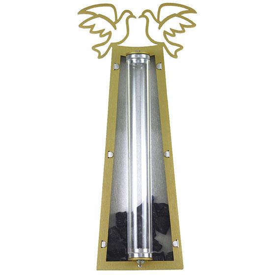 Doves Mezuzah with Wedding Glass Receptacle