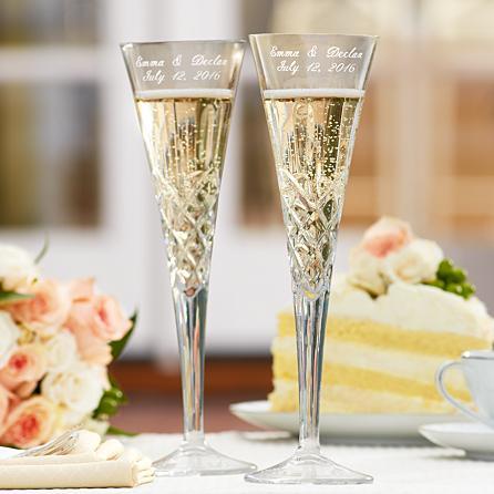 Galway European Crystal Romance Toasting Flutes
