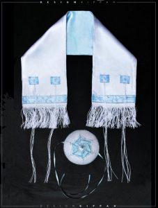 Handmade Kippah Tallit Set For Brit Milah