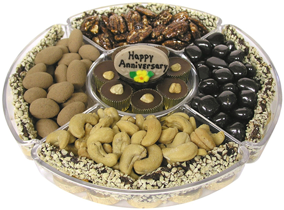 Happy Anniversary Lucite Gift Tray