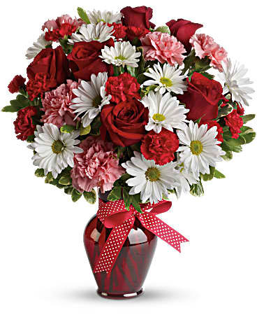 Hugs Kisses Bouquet With Red Roses