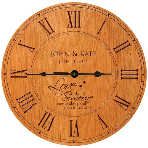 Personalized Cherry Roman Anniversary Wall Clock