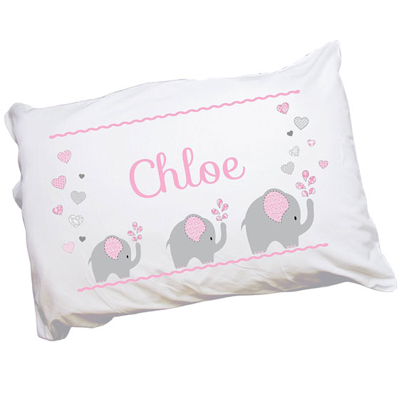 35 best jewish baby gifts for bris brit milah ceremony 2018 personalized elephant pink pillowcase negle Gallery