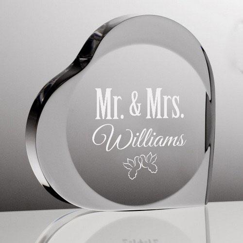 Personalized Mr & Mrs Acrylic Keepsake Heart