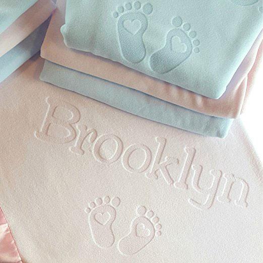 Personalized Satin Trim Custom Blanket