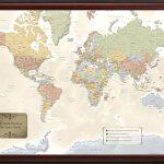 Personalized World Traveler Map