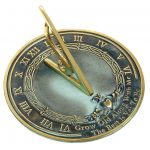 "Rome Brass Sundial ""Grow Old With Me"""