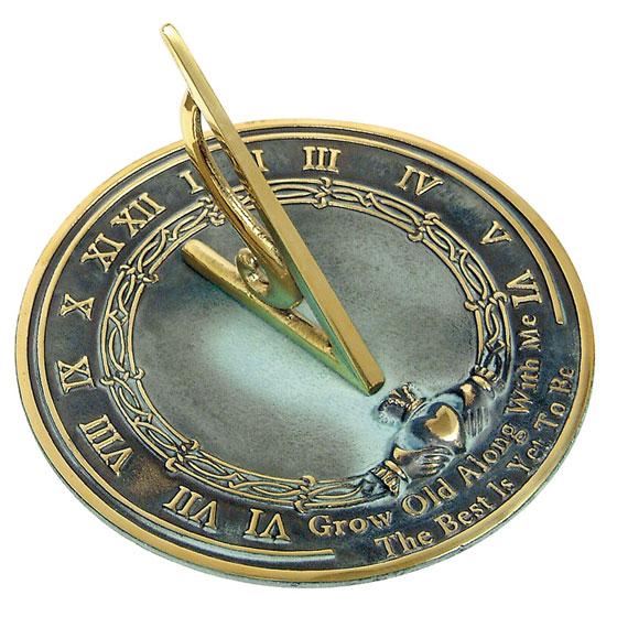 """Rome Brass Sundial """"Grow Old With Me"""""""