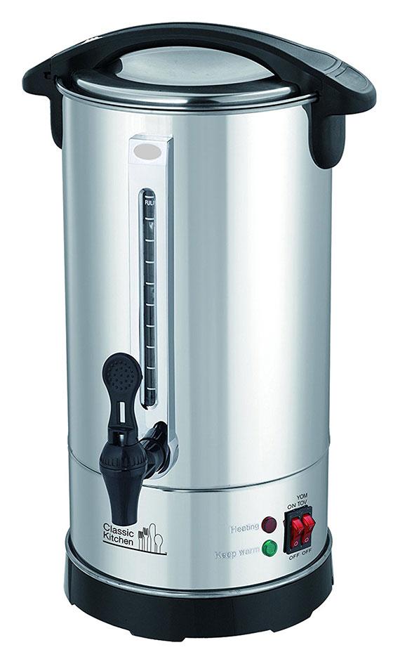 Stainless Steel Hot Water Urn for Shabbat & Yom Tov
