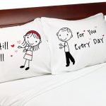 """Stick People"" Falling in Love Pillowcases"