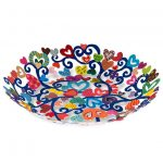 Yair Emanuel Hand Painted Laser Cut Bowl Hearts