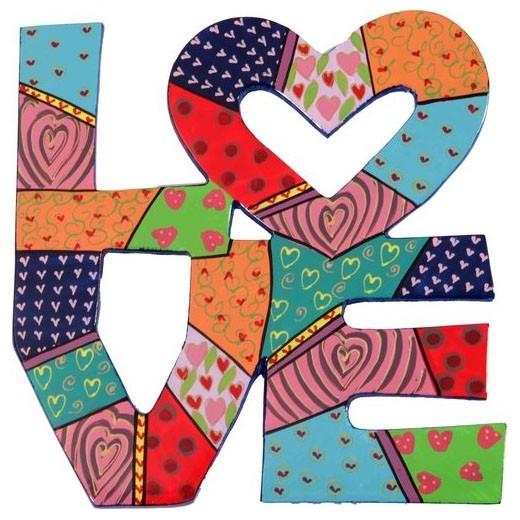Yair Emanuel Laser-Cut Wall Hanging - Love