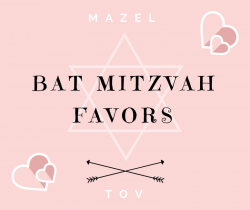 Bat Mitzvah Favors