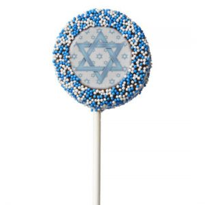 Blue Bar Mitzvah Star of David Oreos Party Favors