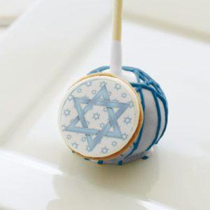 Blue Star Of David Bar Mitzvah Party Cake Pops