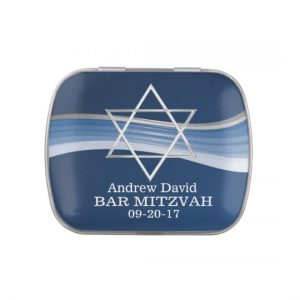 Blue Wave Star of David Jelly Belly Candy Tins