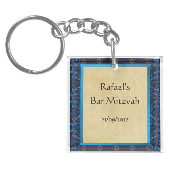 Custom Bar Mitzvah Key Chain Favors